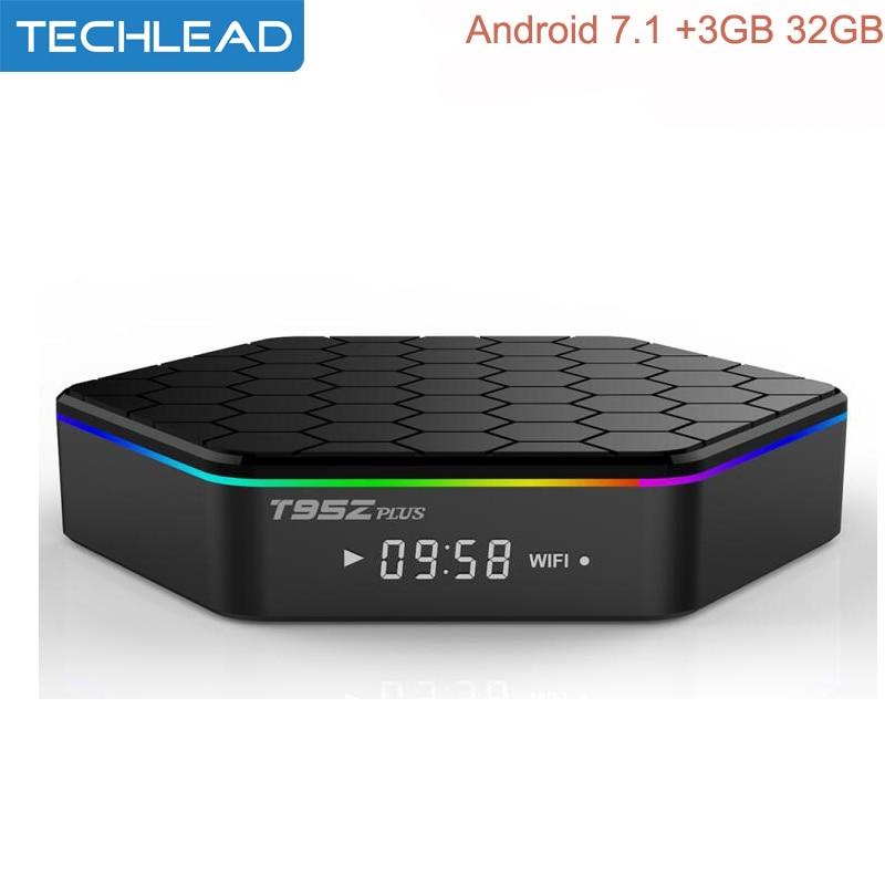 US $64 99  T95z Plus 3GB/32GB Amlogic S912 Android 7 1 Smart TV Box Octa  core 5G WIFI Bluetooth BT4 0 H 265 digital Set Top Box 4K Full HD-in  Set-top