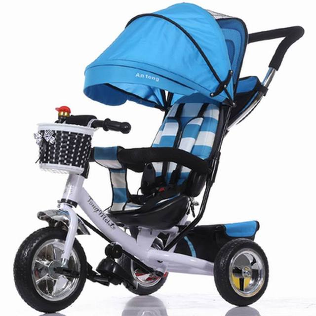 Stroller Portable Baby Strollers Rubber Child Tricycle Trolley Baby