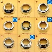 Taochis Car Styling Lens Hood Shroud DIY For Hella 3 5 Q5 Projector Lens Shell Chrome