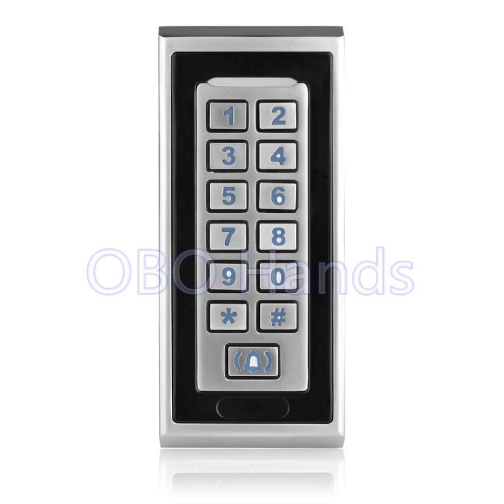 Free Shipping metal silver security RFID access controller waterproof keypad door access control system ID card reader-K81