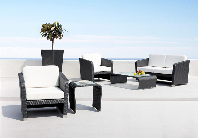2017 New Cheap Outdoor Wicker Patio Furniture Garden Rattan Sofa Set
