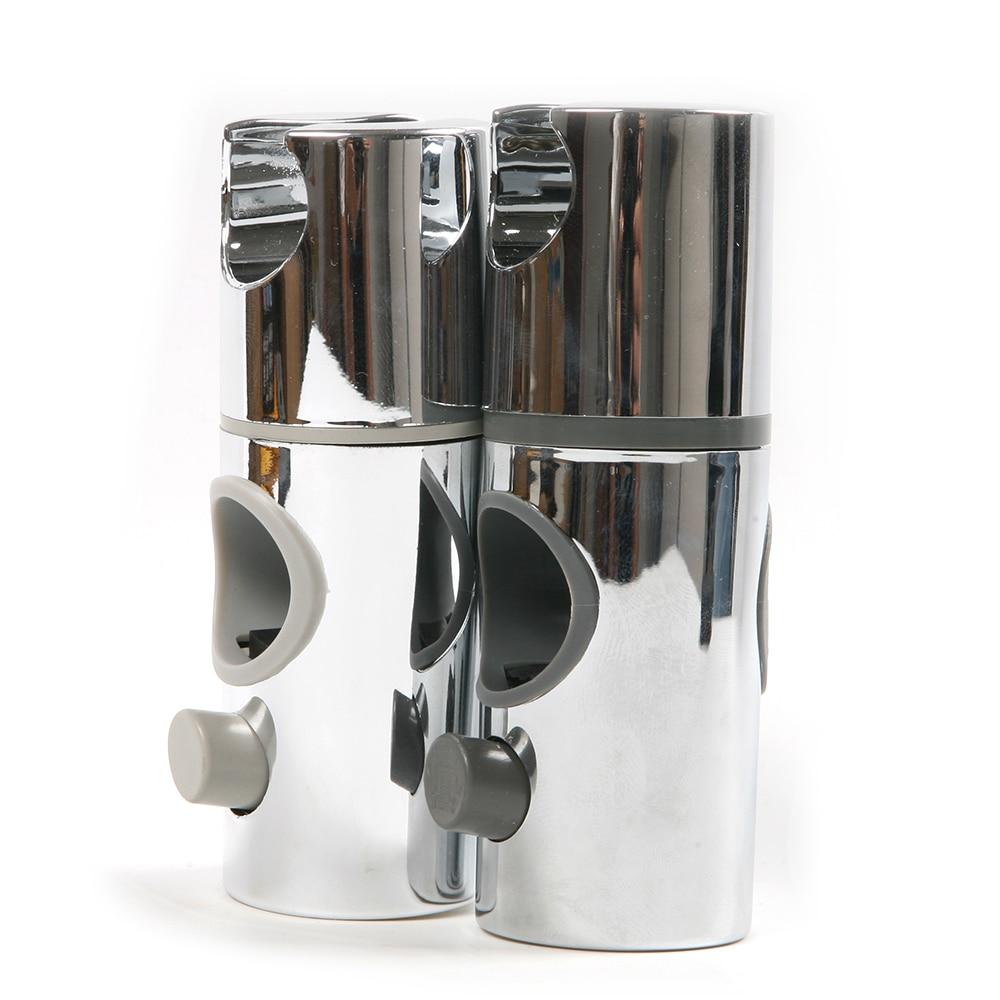 ABS Universal Shower Head Holder Silver Tone Length 11.5cm Tube Caliber 24mm 25mm Shower Holder For Bathroom Wall