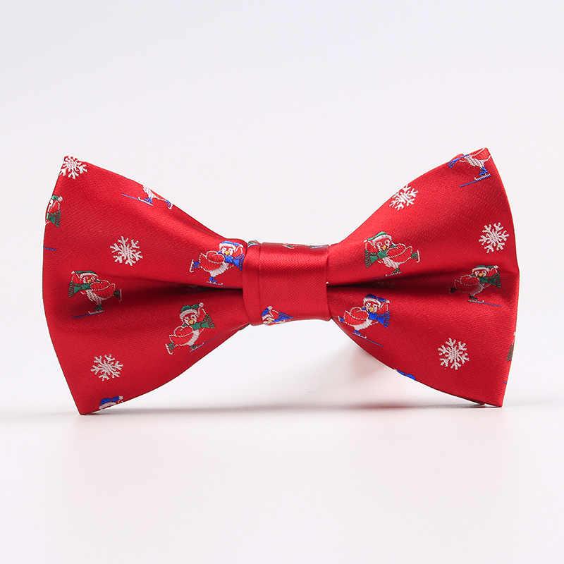 Ricnais Nova Marca Laços para Homens Árvore de Natal Casamento Cravat Bowties Para Homens Moda Casual Bowknot Bowties Dos Homens Presentes