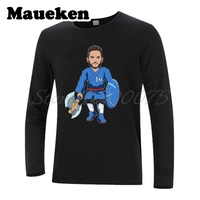 Men Long Sleeve The shield samurai 14 Dries Mertens Belgium Napoli T Shirt Clothes T Shirt Men's Autumn Winter W18030202