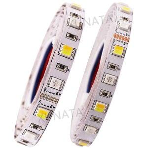 Image 3 - DC12V 24V RGB + CCT taśmy LED SMD 5050 RGBW RGBWW RGB WWA elastyczna taśma led liny taśma dekoracyjna światła 5M