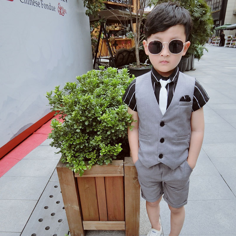Children s Wear 2019 New Arrival Boys Attire Peaked Lapel Kids Suits Custom Made Clothing Set