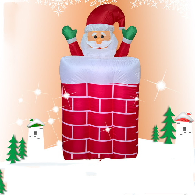 1.8M Giant Inflatable Santa Claus Outdoors Christmas