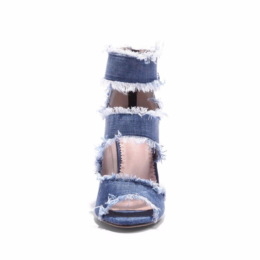 Dame S Plus High Mode Frau 34 Büro Sandalen Größe Zip Heel Romantik 43 Schuhe Frauen Pumps Blau Ss986 Sommer HSrwx6H