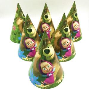 Image 5 - 106 шт./лот детская тема «Маша и Медведь», украшение для дня рождения мальчиков, вечерние товары для свадебных мероприятий, различные наборы посуды