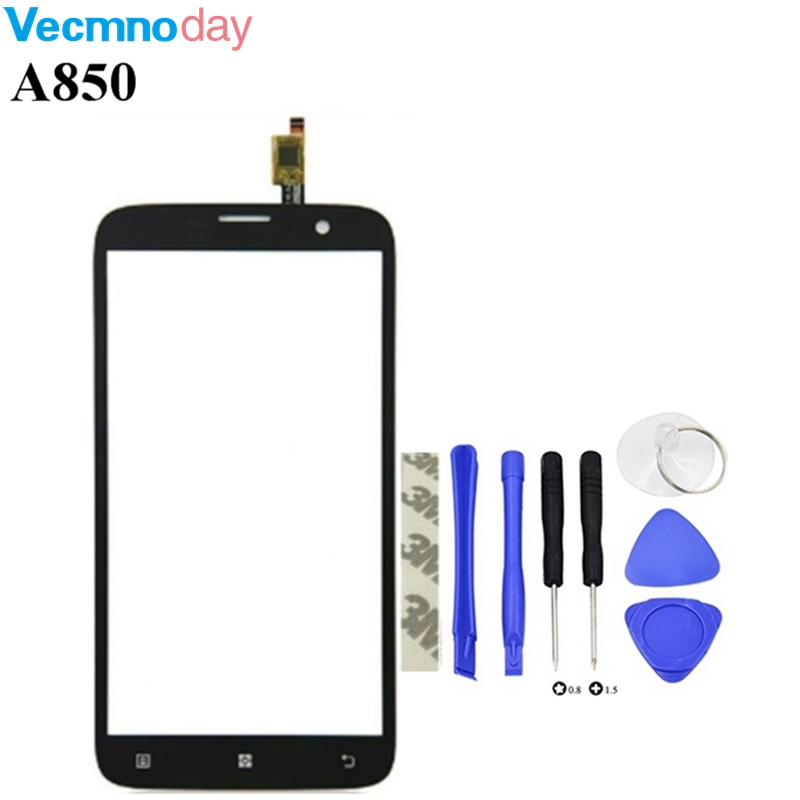 Vecmnoday 5.5'' Touchscreen Sensor For Lenovo A850 A 850 Touch Screen Digitizer Touch Panel Front Glass Lens Free Shipping