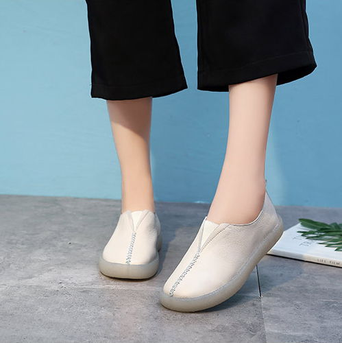 GYKZ 2018 New real leather vintage art and art old shoes soft leather women soft soles for women casual flat shoes old and new terrorism
