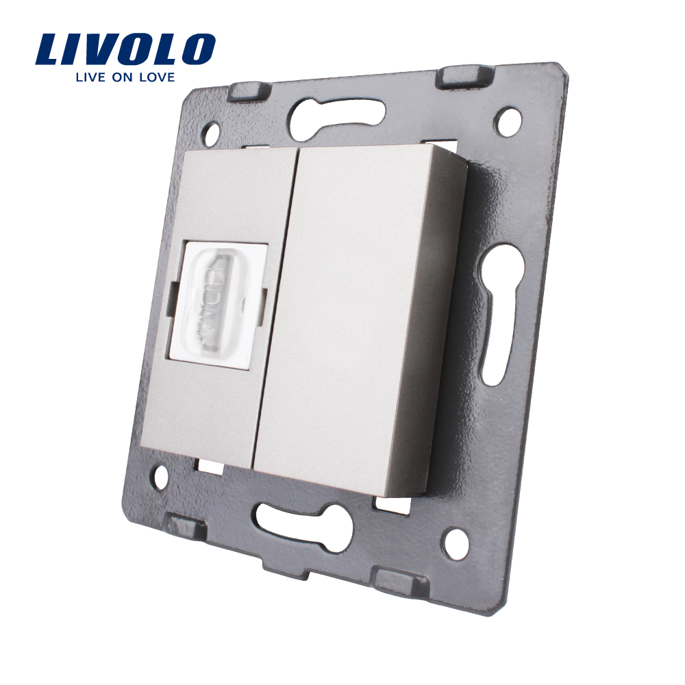 Manufacturer, Livolo  EU  Standard White Plastic Materials, 45mm*22mm, Module HDMI Socket With 4 Colors