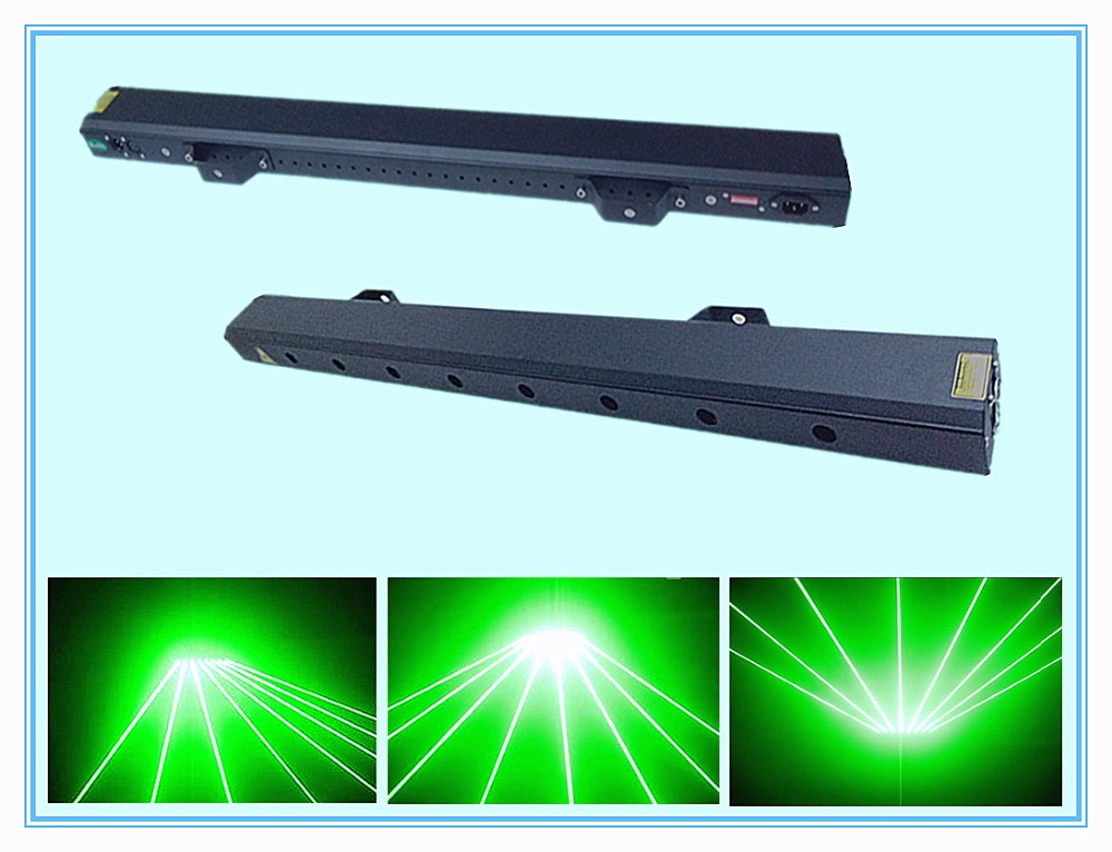 Rasha 80mw(532nm) Green Color 8 Holes Laser Curtain Light,Laser Beam Light,Blue Color Laser Light For DJ Club,Fine Light