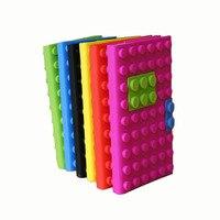 DIY 블록 노트북 다채로운 재미 소프트 실리콘 커버 참고 도서 크리 에이 티브 작문 도서 일기 사무실 학교 편지지 선물