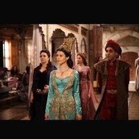 Blue Movie Theater TV Vintage Costumer medieval dress Renaissance Gown queen Halloween Dancing Party Dresses HL 69