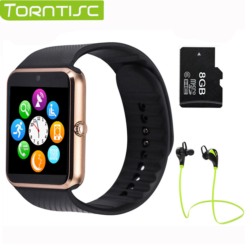 Torntisc GT08 Smart Watch On Wrist Bluetooth smartWatch For apple Android OS English Sim Card Sleep Tracker Adult 2016 bluetooth smart watch gt08 for