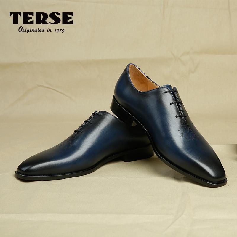 terseluxury brand mens dress shoes handmade genuine leather