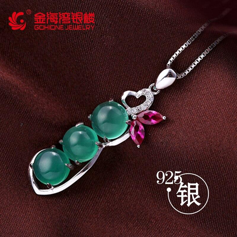 Женское ожерелье с подвеской, из стерлингового серебра 925 пробы