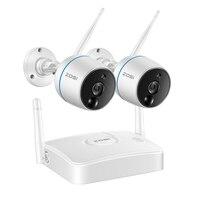 ZOSI CCTV камера безопасности 1080P WiFi мини NVR комплект видеонаблюдения беспроводная ip-камера, функция PIR, запись sd-карты