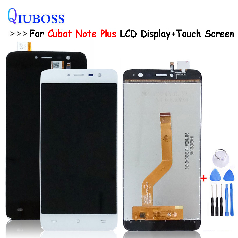 For Cubot Note Plus LCD Display+Touch Screen 5.2 Inch For Note Plus LCD Assembly Replacement+Tools