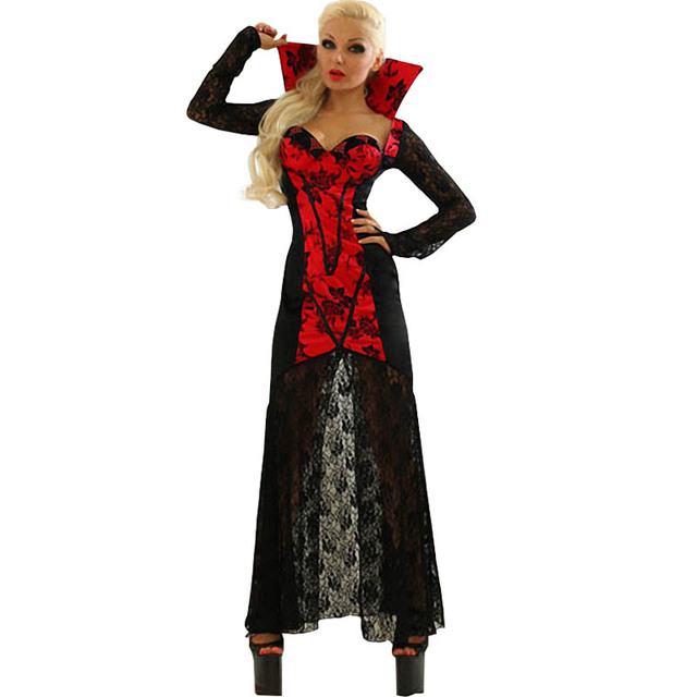 Nouvelle Arrivée Halloween Costume Drag Queen Partie Banshee Noble Noir  Vampire Carnaval Costume