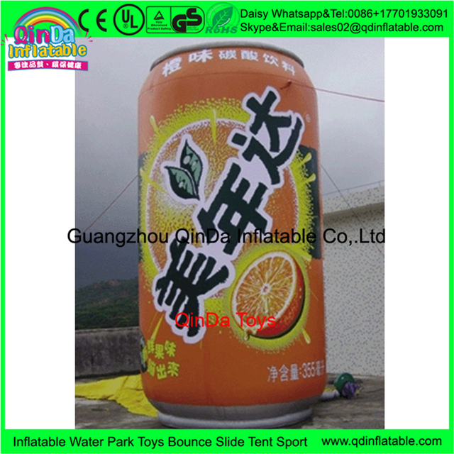 Factory price inflatable water bottle model ,inflatable plastic decorative wine bottles