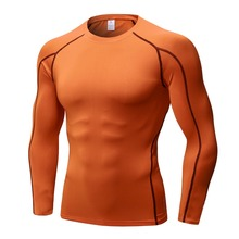 цена на Men's Compression Shirt Long Sleeve T-Shirts Dry Fit Running Shirt Fitness Tight Soccer Jersey Gym Tops Shirts