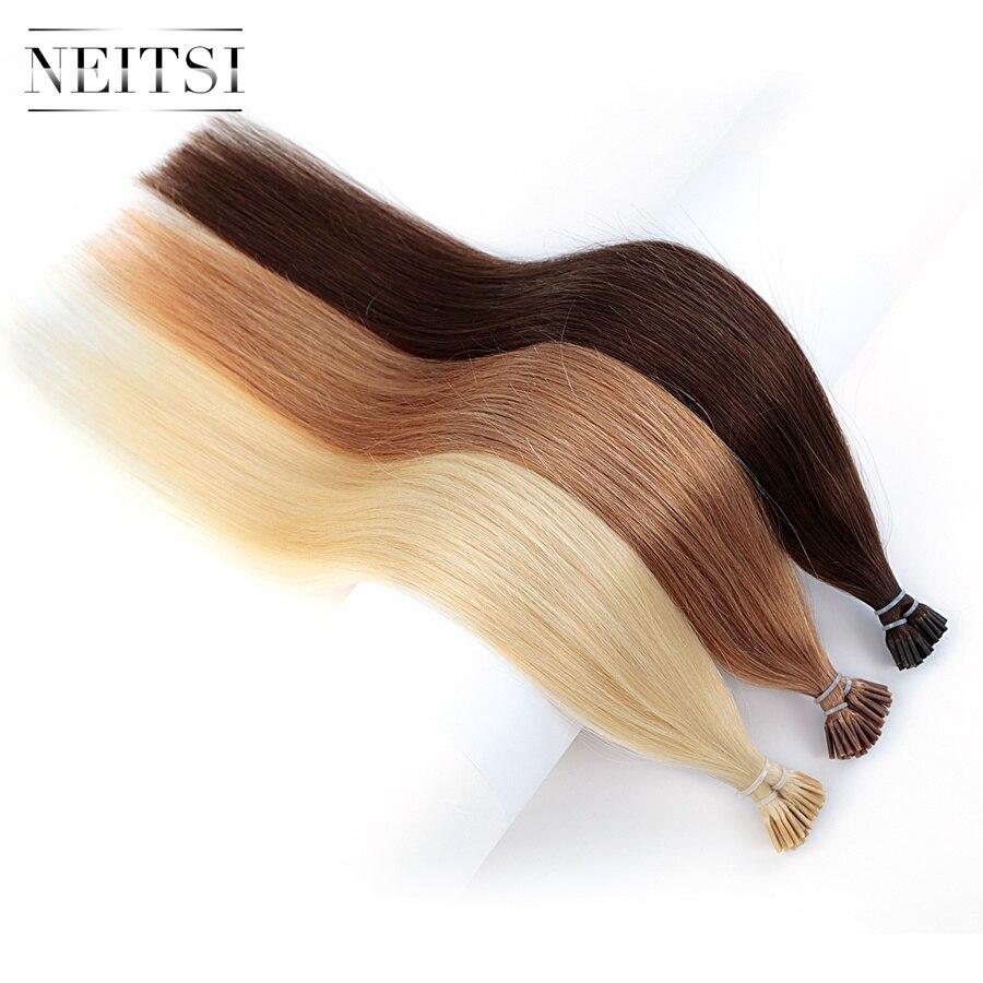 Neitsi Human Fusion Hair Straight 4 27 60 50pcs Each Color DIY Brazilian Remy Capsule Hair
