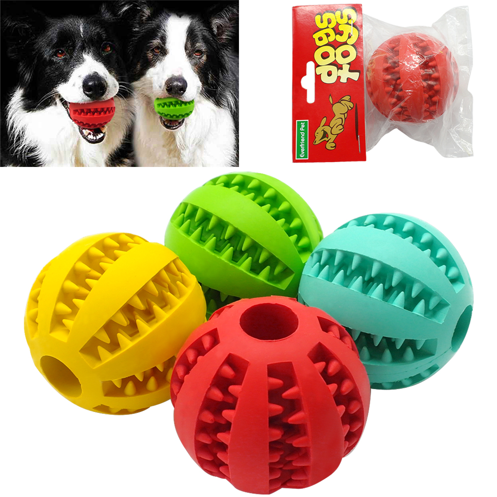 Squishy Ball Dog Toy : Soft Rubber Chew Ball Toy For Dogs Dental Bite Resistant Tooth Cleaning Dog Toy Balls for Pet ...