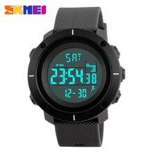 SKMEI Smart Wrist Band Pedometer Calories Sport Watches For Men Running Military Watch Army Green Digital Smartwatch Men 1215