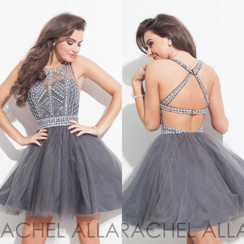 2017 Sexy Short Gray Homecoming font b Dresses b font Backless Crystal Beads Tulle Mini Short