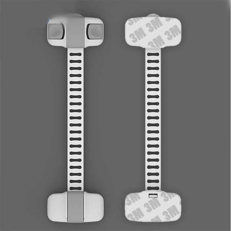 5 ชิ้น/ล็อตล็อคตู้ลิ้นชักตู้เสื้อผ้าเด็ก Todder เด็กความปลอดภัยพลาสติก ABS PE ห้องน้ำตู้เย็นล็อค gTRQ0469