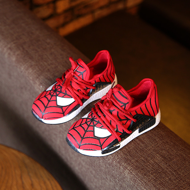 2017 New Spring Child Shoes Cartoon Spiderman Boys Sneakers Sport Boys Shoes Chaussure Fille Enfant Marque Children Shoes