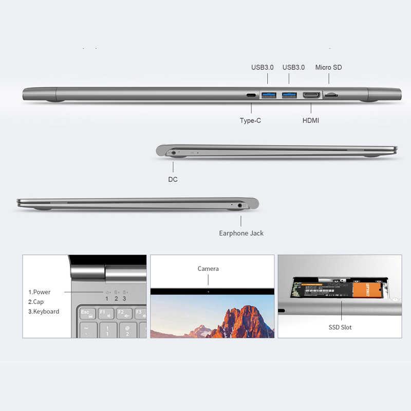 نوت بوك الترا-thinTeclast F15 بشاشة 15.6 بوصة ويندوز 10 هوم 8 جيجابايت رام 256 جيجابايت SSD HDMI حاسوب محمول جيميني ليك إنتل N4100 كواد كور 6000 مللي أمبير