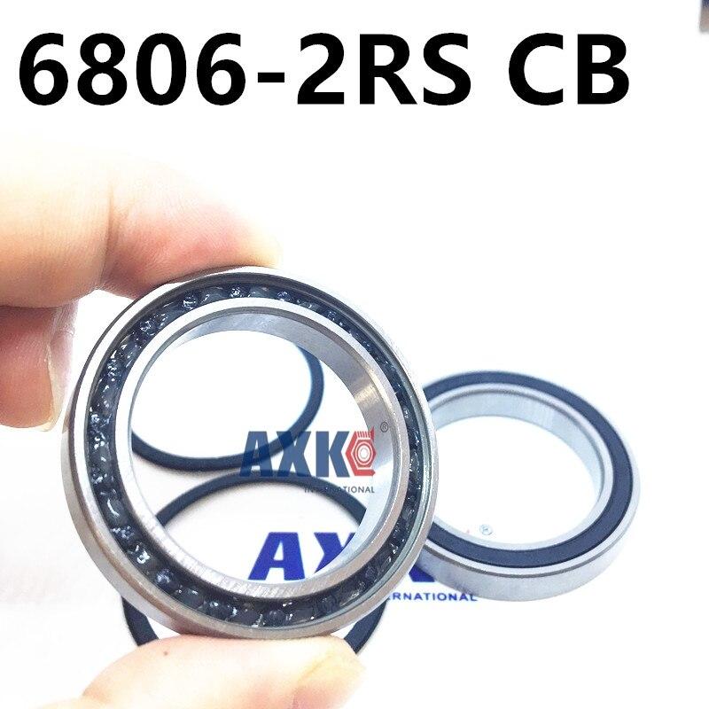 2Pcs 6806 61806 2RS Si3N4 Ceramic Ball Bearing Rubber Sealed BB30 Hubs 30x42x7mm 6806-2RS CB free shipping 6806 2rs 30 42 7mm full zro2 ceramic ball bearing 30x42x7mm 61806 2rs 6806 61806 2rs for bicycle part