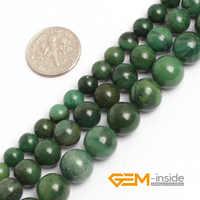 6 millimetri 8 millimetri 10 millimetri Verde Africano Giade (Giadeite) perline Giade Naturali Perline di Pietra Perline FAI DA TE Per Gioielli Perline 15 Commercio All'ingrosso