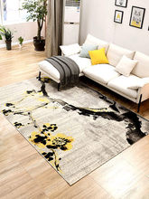 Simple modern abstract geometric Chinese style living room coffee table bedroom carpet full bedside blanket home
