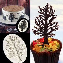 Trees Shape Fondant Cake Mold Silicone Baking Decoration Supplies Tool