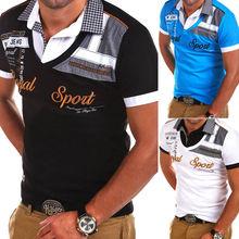 90c1378b2 Zogaa Novo Verão 2019 Homens Camisa Pólo Bordado Tubarão Business Casual  Polo Homme Moda Lazer Slim