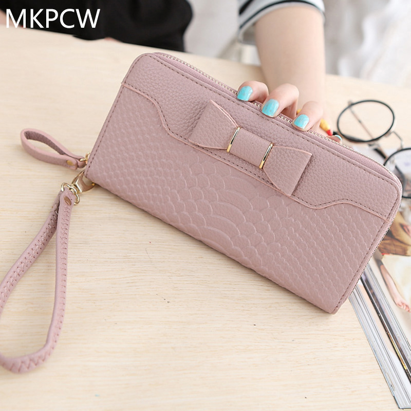 New Hot Sale Interior Slot Pocket Note Compartment Zipper 2017 Fashionable For Grain Women's Large Capacity Single Wallet Bag 2017 hot sale death note notebook