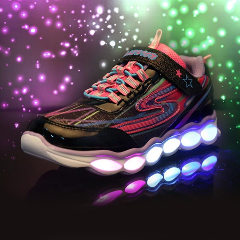 illuminated sneakers LED lights Usb Charging glowing kids brand shoe new lighting boys girls children sport shoes