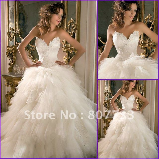 Free shipping JM.Bridals romantic tulle victorian ball gown wedding ...