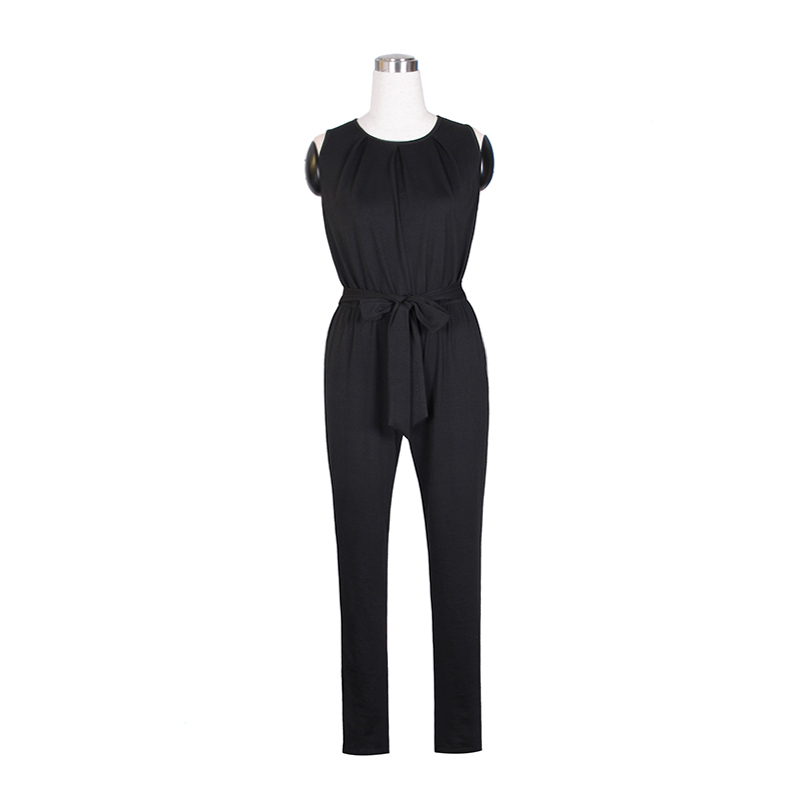 519e90a39d4 Women Tank Top Jumpsuit Black Summer Rompers Ladies Casual Elegant  Sleeveless Long Pants Plus Size Overalls Playsuit WS949X-in Jumpsuits from  Women s ...