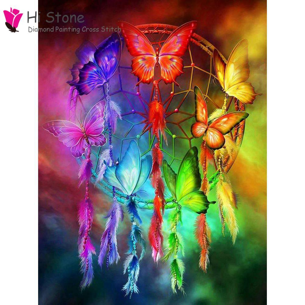 Новый алмаз живопись 5D Сделай Сам Вышивка крестом diamond Dreamcatcher мечтательный домой горный хрусталь мозаика живопись Декор подарок