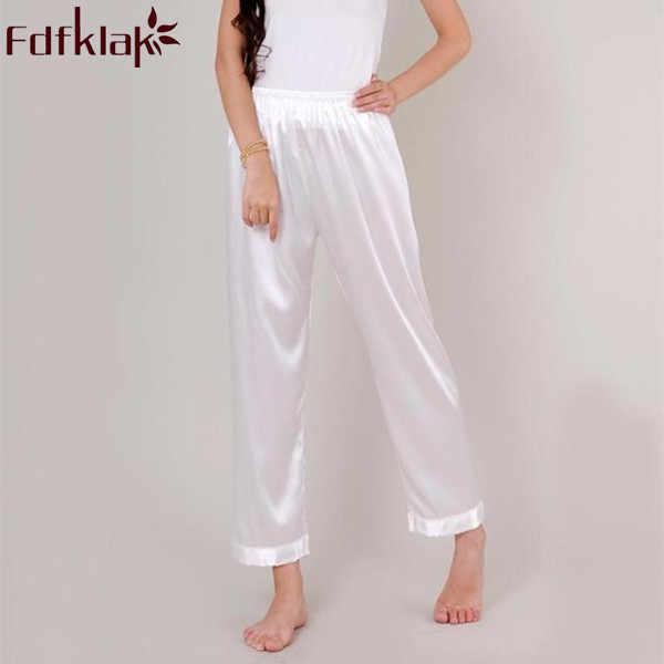 37899c37a1 XL XXL XXXL Plus Size Pyjama Bottoms Spring Summer Faux Silk Women Pajama  Pant Women s Lounge