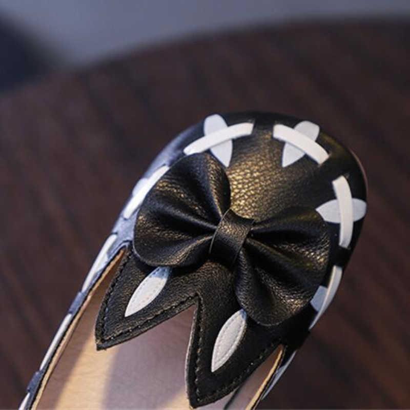 Dzieci mieszkania śliczne dziewczyny buty z uszy królika jesień nowe dzieci księżniczka buty w stylu casual krowa mięśni antypoślizgowe Chaussures fille