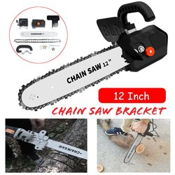 Electric Chain Saw Converter 12 Inch M10 Chainsaw Bracket Tree Felling Saw Changed 100 Angle Grinder Into Chain Saw