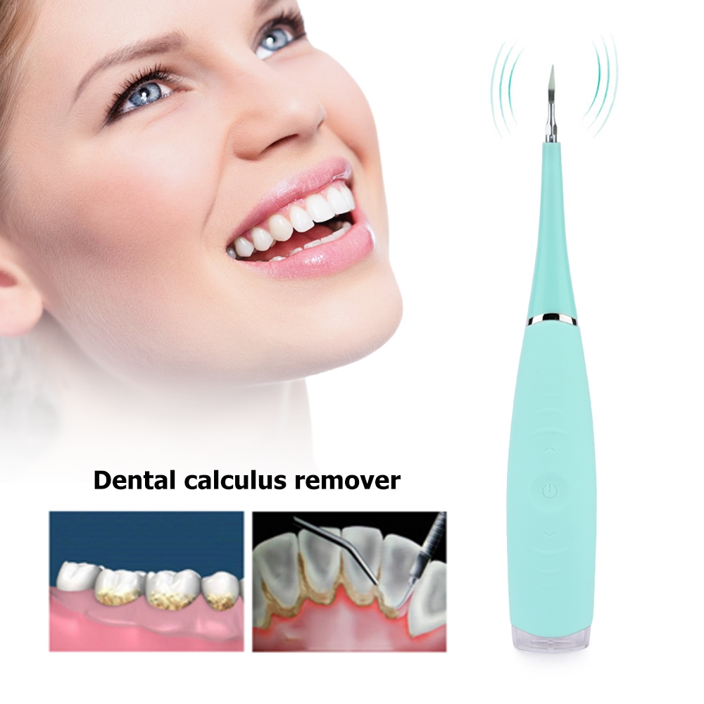 PORTABLE ELECTRIC SONIC REMOVER TOOTH STAINS TARTAR TOOL