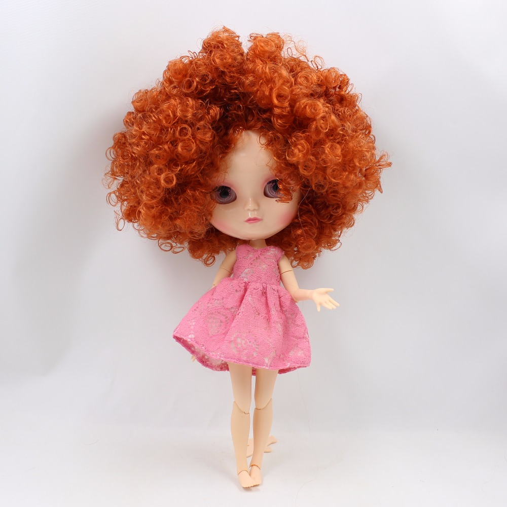 Neo Blythe Doll with Ginger Hair, White Skin, Shiny Face & Jointed Azone Body 1