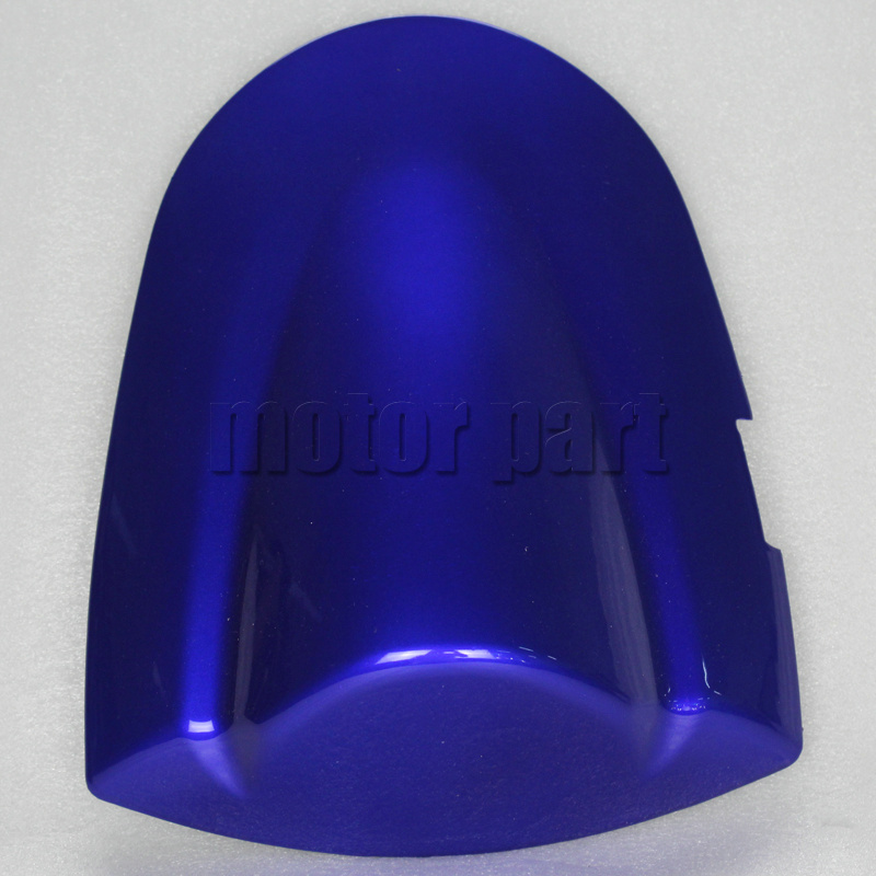For 2006-2007 Suzuki GSXR600 GSXR750 K6 GSXR 600 750 Motorcycle Pillion Rear Seat Cover Cowl Blue Black 06 07 motorcycle red rear pillion passenger seat for suzuki gsxr 600 750 gsxr 600 750 2006 2007 cushion leather